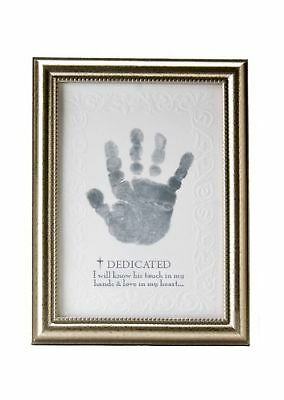 The Grandparent Gift Co. Growing in Faith Handprint Frame Baby Dedicat... NO TAX