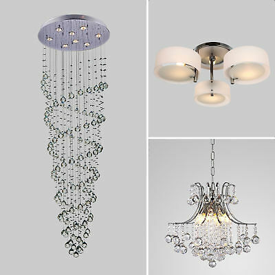 Glass Crystal Lamp Ceiling Pendant Chandelier Lighting Contemporary 3 Types