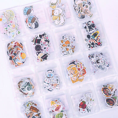 Lovely Pattern Cartoon Anime Cat Flowers Coffee DIY Adhesive Decorative Sticker