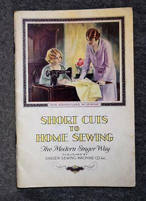 1928 Singer Sewing Booklet Short Cuts To Home Sewing