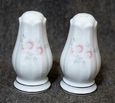 Noritake Philippines White Floral Salt & Pepper Shakers MINT