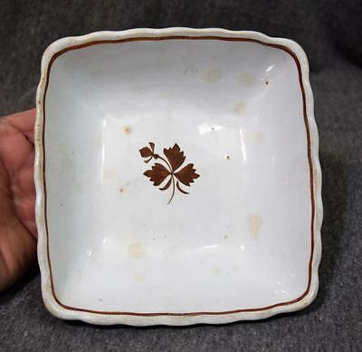 Antique Royal Ironstone China Alfred Meakin England Square Bowl