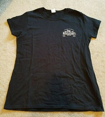 New Women's World Famous Dr. McGILLICUDDY'S Black T-Shirt Size Large