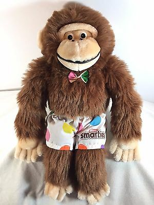 "Nestle SMARTIES the MONKEY - Advertising Plush Toy - 17"" Tall - Short Bow Ape"
