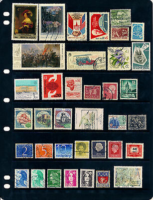 Stamp Page 37 Various European Stamps USSR Italy Netherlands France & More Used