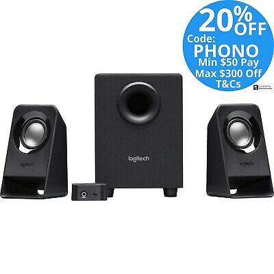 Logitech Multimedia Stereo Computer Speakers Z213 2.1 System with Subwoofer
