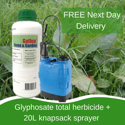Knapsack Sprayer 20L With Gallup Extra Strong Spray Weed Moss Killer