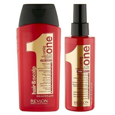 Revlon Uniq Set One All In One Shampoo 300ml + All in One Hair Treatment 150ml (