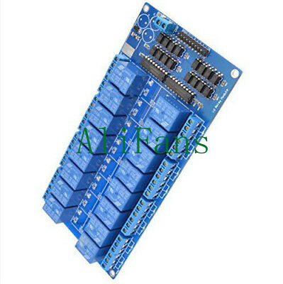 16-Channel 5V Relay Shield Module with optocoupler For Arduino New AF