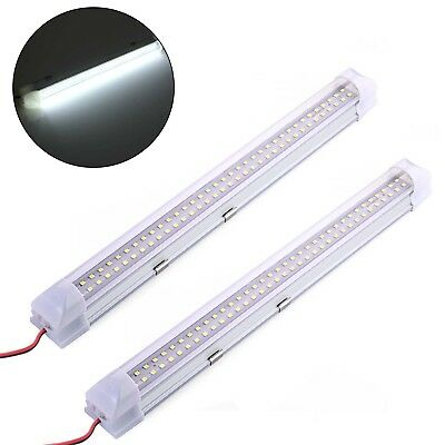 2X 72 LED striscia di luce interno Bar Auto Van Bus Caravan Interruttore ON/OFF