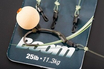 "Korda 6x Ready Tied QC Boom Hooklink Quick Change Swivel 5.5"" or 7.5"""