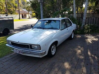 Torana Holden UC 1978 4 Door White Sedan, 6 Cylinder Auto