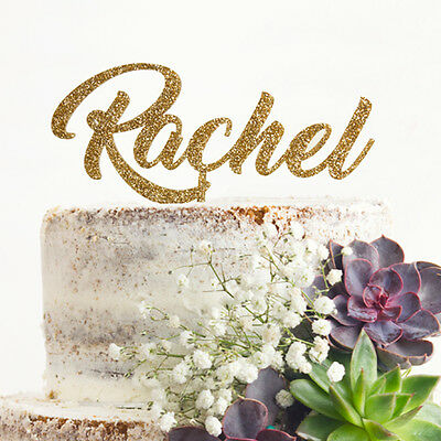 Personalised Name Glitter Cake Topper Birthday Fast & Free UK Delivery  .c.