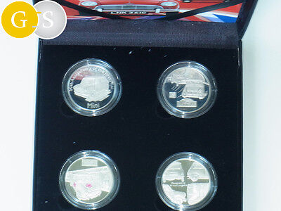 4x 5 £ Pounds Silver Proof Set 50th Anniversary Mini Alderney 2009 silber Royal