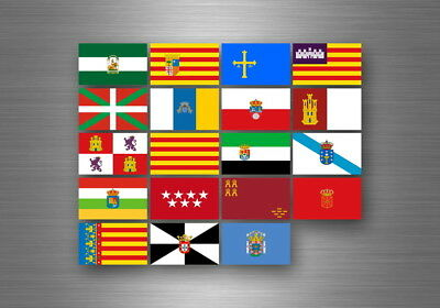 Flag sheet sticker labels country subdivisions states province spain spanish