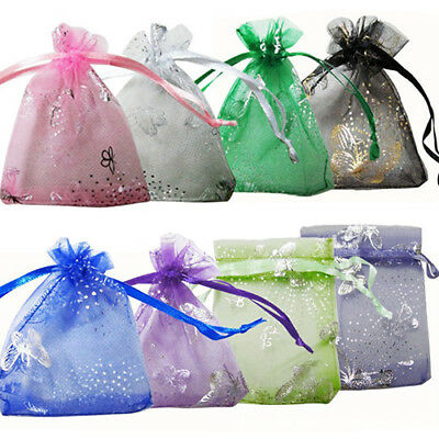 25/100 Pcs Small Organza Bag Gift Bag for Jewelry Packing Wedding Favor KAWAII