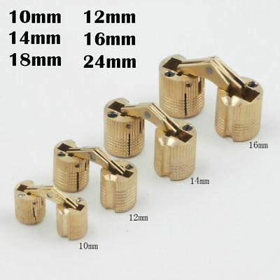 10-24mm Brass Barrel Cabinet Cylindrical Hidden Concealed Invisible Hinges RIS