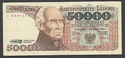 50 000 Zlotych From Poland 1989 A1