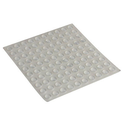 Adhesive Silicone Bumper Door Cabinet Drawer Stopper Buffer Pack 100 Pieces