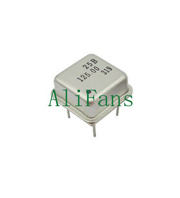5PCS 125MHz 125.000MHz Active Crystal Oscillator OSC Square DIP4 NEW