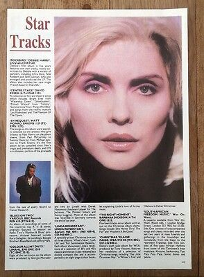 BLONDIE Debbie Harry 'Rockbird review' ARTICLE / clipping