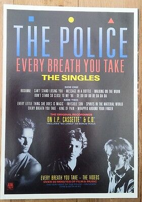 POLICE STING 'Every Breath..Singles' magazine ADVERT / Poster 11x8 inches