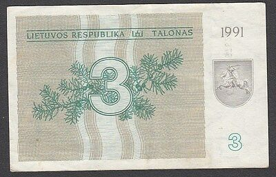 3 Talonas From Lithuania 1991 Without Text