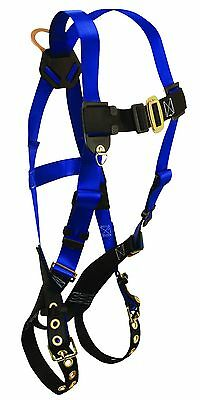 Falltech 7016 Contractor Harness W/Tongue Buckle Legs & 1 D-Ring, Universal Size