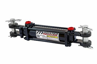 """Hydraulic Cylinder Tie Rod Double Action 2"""" Bore 4"""" Stroke 2500 PSI 2x4 NEW"""