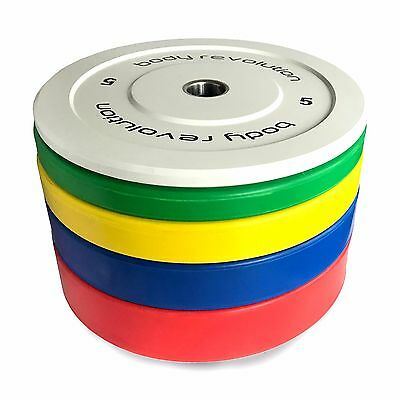 """Olympic Bumper Plates Rubber Weight Plate 2"""" Disc Weights"""