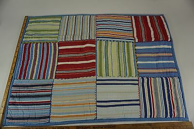 """POTTERY BARN KIDS Patchwork Quilted Pillow Sham Multi Color 7"""" sq. Patch Case"""