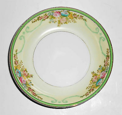 Meito China Porcelain Japan Floral Gold Green Yellow Fruit Bowl