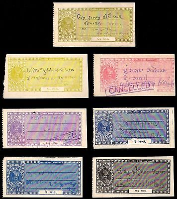 7 BILKHA (INDIAN STATE) All Different Stamps (c$80)