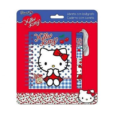 Hello Kitty Notizblock Stift Schreib-Set Block Ringblock NEU