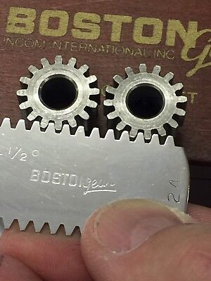 "Boston Gear Steel H-2416 Spur Pinion Gear Clock Telescope Lathe 5/16"" Bore Hole"