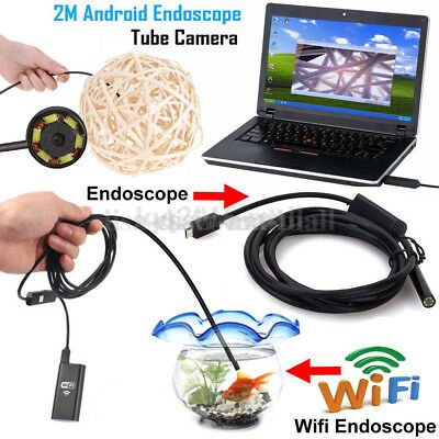 HD Waterproof WiFi iPhone Android Borescope or Endoscope Inspection Camera 2m 5m