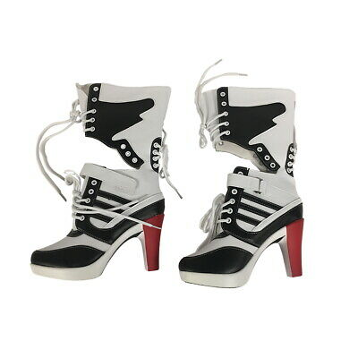Harley Quinn Womens Boots Shoes Costume Suicide Squad Cosplay Movie High Heels