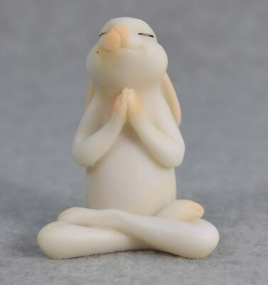 Top Collection Enchanted Story Fairy Garden Yoga Bunny Seated Namaste Pose #4391