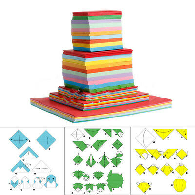Newly Square Double Sided Origami Folding Wish Paper Crane Craft Colorful Sheets