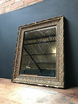 19th Century Antique French Gold Framed Foxed Mirror