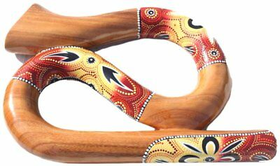Varnished wooden Spiral figure of 8 Didgeridoo