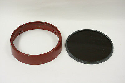 "Kodak 5 1/2"" glass OC filter for their safelight Cat. #152 1483"
