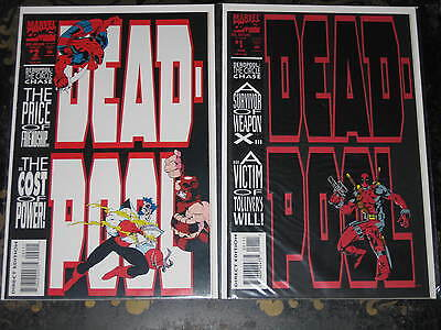 Deadpool #1, 2 Marvel Comics