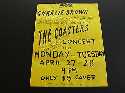 The Coasters Signed Autographed x3 Concert Flyer PSA Beckett Guaranteed
