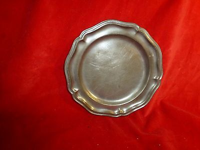 Rare -Revolutionary War Era Soldier's Pewter Camp Plate / Most Did Not Survive