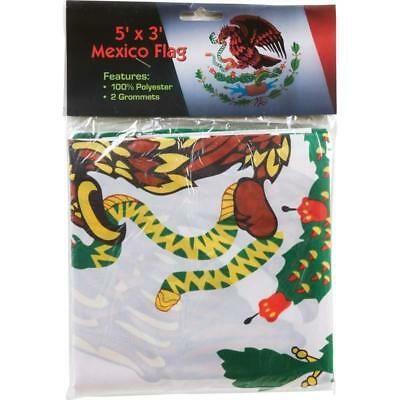 MEXICO FLAG 3 X 5 FOOT Polyester  NEW  **  MEXICAN FLAG