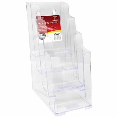 Bulk Buy - 3 x deflect-O 4 Tier DL Brochure Holder Portrait