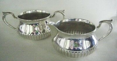 Heavy Weight Sterling Silver Cream And Sugar Set By Kirk & Son
