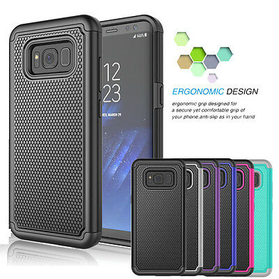 Samsung Galaxy S8/ S8 Plus Shockproof Hybrid Rugged Rubber Armor Hard Case Cover