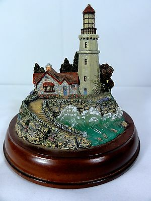 """Hawthorne """" Conquering The Storms """" Lighted Lighthouse - Thomas Kinkade - Works"""